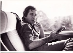 leonard cohen on a train