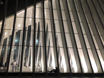 Charles Daly reading at the oculus new york city