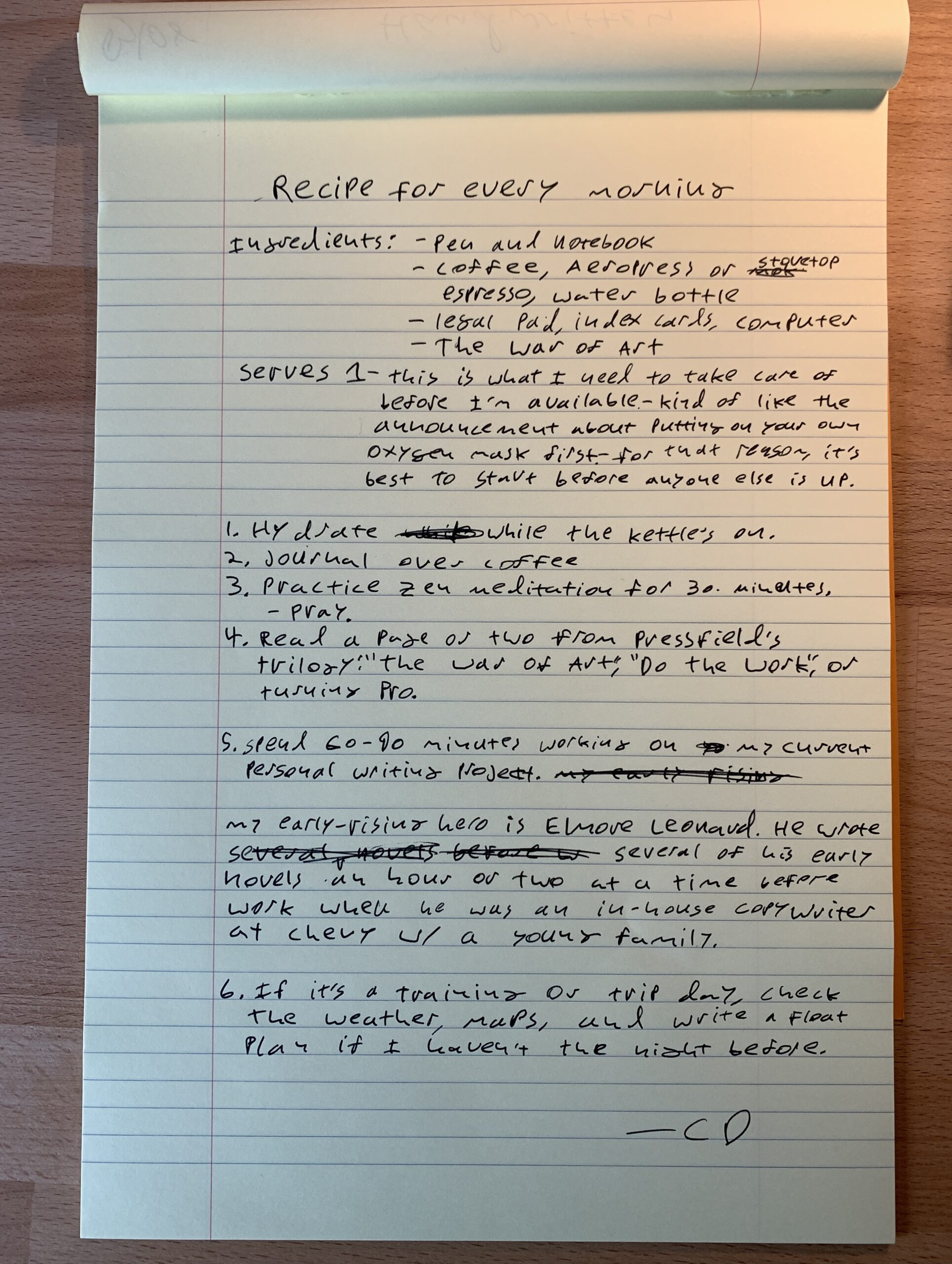 Handwritten challenge charlie daly dead reckoning collective